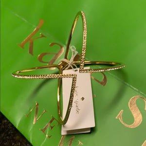 NWT Kate Spade Gorgeous Gold Pave Cuff Bracelet